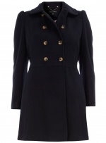 Navy coat like Pennys from Dorothy Perkins at Dorothy Perkins