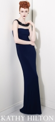 Navy gown at Kathy Hilton