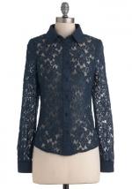 Navy lace shirt at Modcloth at Modcloth