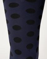 Navy polka dot tights from ASOS at Asos