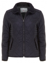Navy quilted jacket at Dorothy Perkins