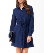 Navy shirtdress from Forever 21 at Forever 21