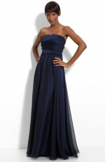 Navy strapless gown by Monique Lhuillier at Nordstrom