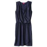 Navy tulip wrap dress at Target