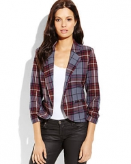 Necessary Objects Plaid Blazer at Century 21