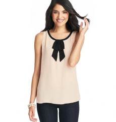 Neck bow blouse at Loft