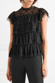 Needle   Thread   Tiered embroidered tulle top at Net A Porter