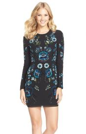 Needle and Thread Embellished Georgette Minidress at Nordstrom