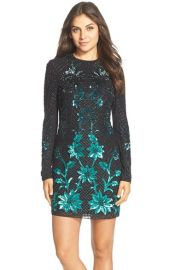 Needle and Thread Embellished Georgette Sheath Dress at Nordstrom