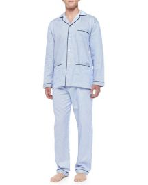 Neiman Marcus striped pajama set at Neiman Marcus