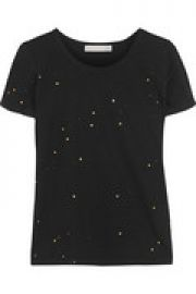Nelly paint-splattered cotton and modal-blend T-shirt at The Outnet
