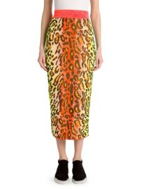 Neon Jacquard Stretch Midi Skirt Stella McCartney at Saks Fifth Avenue