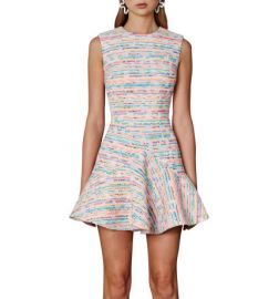 Neon Weave V Flare Mini Dress at David Jones