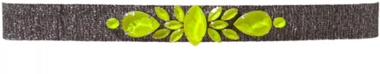 Neon gem stone belt at Zara