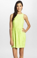 Neon lace dress at Nordstrom at Nordstrom