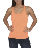 Neon orange tank top at Wet Seal