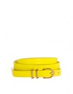 Neon yellow skinny belt at Asos