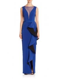 Nero by Jatin Varma - Solid Illusion Neck Dress at Saks Fifth Avenue