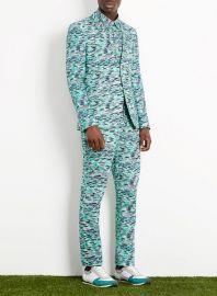 Nest print suit at Topman
