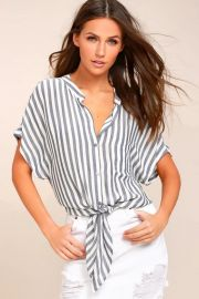Newport Beach Striped Top by Lulus at Lulus