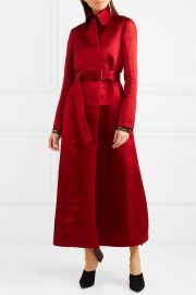 Neyton silk-satin coat by The Row at Net A Porter