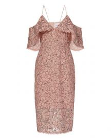 Nicholas Basque Lace Off the Shoulder Dress at Intermix