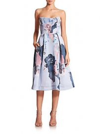 Nicholas Floral Mesh Ball Dress at Saks Off 5th