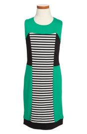 Nicole Miller Stripe Colorblock Dress at Nordstrom