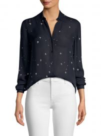 Nina Star-Print Blouse at Saks Fifth Avenue