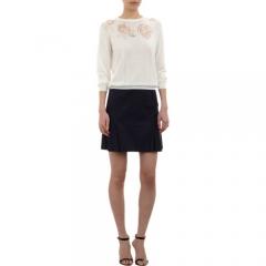 Nina Ricci Floral Devorandeacute Pullover Sweater at Barneys