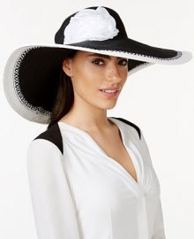 Nine West Black and White Super Floppy Hat at Macys