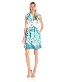 Nine West Ctsp Pleat Waist Dress at Amazon