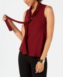 Nine West Tie Neck Blouse at Macys