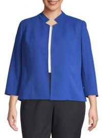 Nipon Boutique Open-Collar Jacket at Lord and Taylor