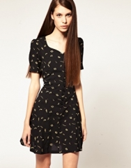 Nishe  Nishe Embroidered Musical Note Sweetheart Dress at Asos