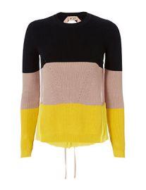 No. 21  Striped Silk Back Knit at Intermix