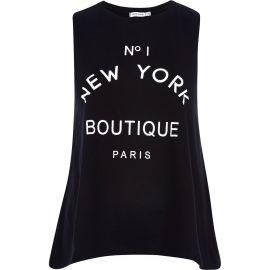No 1 New York Boutique Paris Tank Top at River Island