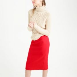 No 2 pencil skirt in double-serge wool at J. Crew