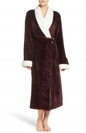 Nordstrom Lingerie Plush Cable Robe at Nordstrom