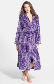 Nordstrom and39Plushand39 Robe in purple damask at Nordstrom
