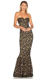 Norma Kamali Corset Gown in Black Lace from Revolve com at Revolve