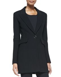 Nouveau Boucle Peaked-Lapel Jacket by St John Collection at Neiman Marcus