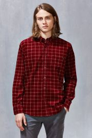 OBEY Halen Cord Windowpane Button-Down Shirt at Urban Outiftters