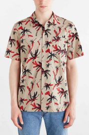 OBEY Short-Sleeve Gulf Print Button-Down Shirt at Urban Outfitters