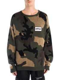 Off White Camouflage Sweater at Saks Fifth Avenue