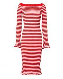 Off Shoulder Ribbed Dress by Caroline Constas at Intermix