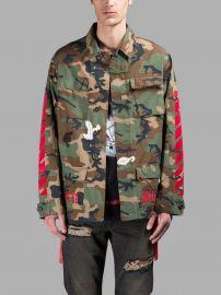 Off White Camouflage Jacket at Antonioli