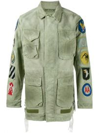 Off-White Patch Embellished Field Jacket at Farfetch