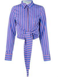 Off-White Tie-waist Striped Shirt  910 - Buy SS18 Online - Fast Global Delivery  Price at Farfetch