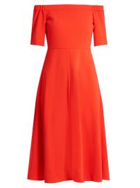 Off-the-Shoulder Crepe Midi Dress at Matches